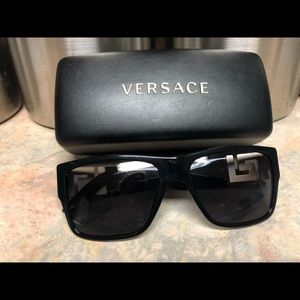 Women's Black Versace Sunglasses